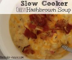 This Slow Cooker Cheesy Hash Brown Soup is one of those slow cooker soup recipes that's perfect if you loved loaded hash browns--here they a...