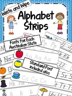 Write and Wipe Alphabet Cards - with Australian fonts