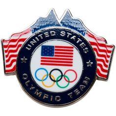 USA Olympic Team USA Round Pin