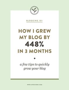 How I grew my blog b