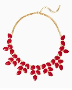 Pear Up Bib Necklace | UPC: 410007139762 #charmingcharlie #COTM #tangored