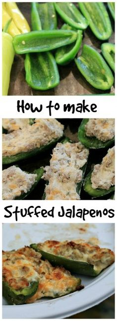 How to make stuffed #Jalapenos. So simple and fast! You will be sure to please your guests with this appetizer.