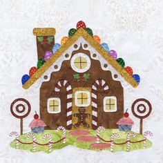 Gingerbread House by Pearl P. Pereira:  Block #10 in Baltimore Christmas