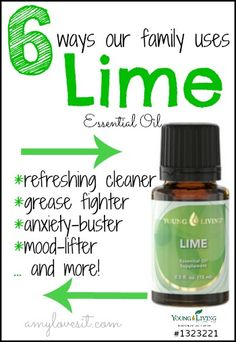 6 Ways Our Family Uses Lime Essential Oil | AmyLovesIt.com