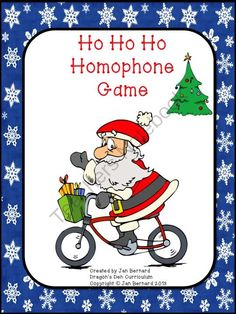 FREE Ho Ho Ho Homophone Game from DragonsDenCurriculum on TeachersNotebook.com (9 pages)  - Add a little homophone learning into that Christmas craziness with this fun homophone game!