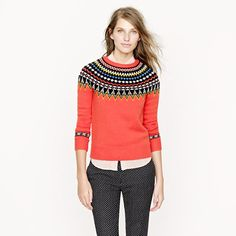 J.Crew Fair Isle ski sweater