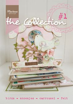 """The Collection #1   Starting in 2013 Marianne Design will release a monthly """"magazine"""" of 8 pages filled with exclusive example cards and recipes made with the new products. With complete overview of the products so you can keep track of your wishlist. The patterns and work descriptions can be downloaded from our website in Dutch and English.   More information: http://www.mariannedesign.nl/t91/collection    Check out the beautiful cover of the first issue!  Recommend price of € 1,99"""