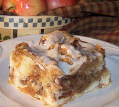 Tattered Treasures: Homemade Apple Streusel Coffee Cake. SO yummy! I made it with real apples and not from a can. Mmmm my house smelled so yummy. Note- this to one person is way too much!!! Lol