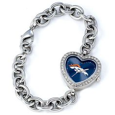 Denver Broncos Women's Heart Watch from Game Time