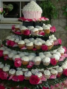Michael loves this one. Our wedding cake will most likely be like this with navy blue, pink, and yellow. LOVE!