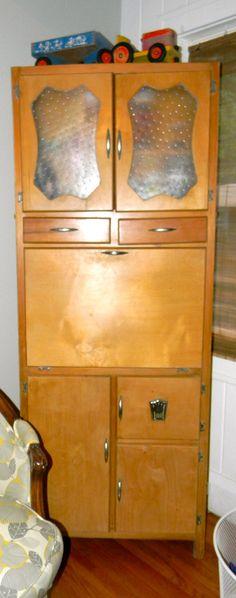 Vintage Art Deco Kitchen Hoosier Cabinet. via Etsy.