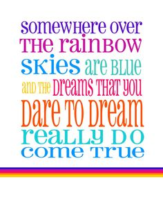 Somewhere Over The Rainbow Baby Girl Nursery by RockPaperPrints, $12.00