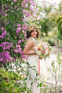 Boho bride: http://www.stylemepretty.com/australia-weddings/western-australia-au/2014/10/09/romantic-bohemian-inspiration-shoot-at-mount-brown/ | Photography: Sarah Tonkin - http://www.sarahtonkin.com.au/
