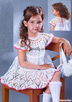 Elegant Dress free crochet graph pattern