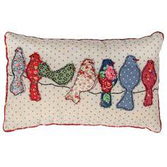 scatter cushions, patchwork song, sew, song bird, idea, craft, bird cushion, songs, birds