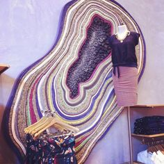 Geode Art Install @Anthropologie
