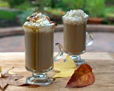 Pumpkin Spice Lattes, quick 'n' easy with homemade Pumpkin Pie Spice, a frothy Pumpkin Coffee Creamer. Just 110 calories and for Weight Watchers, #PP3. #KitchenParade