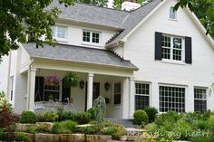 Painted Brick Homes Before And After | popular posts I did on painting the brick on the exterior of our home ...