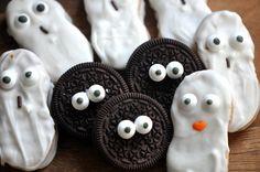 cookie monster, cooki monster, candies, oreo, butter ghost, halloween treats, cookies, bday idea, eyes