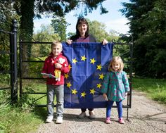 Little James Eilis and Inez McGrath enjoy the Teddy Bear's trail at Lissan House for the EHOD weekend