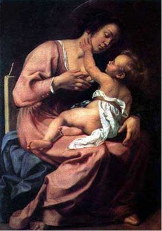 Madonna and Child   c. 1609  Oil on canvas.  1.165m by 0.865m  Spada Gallery, Rome.