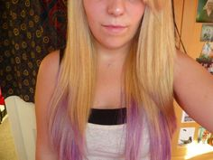 Blonde hair with lilac  Super cute     Lilac Highlights On Blonde Hair