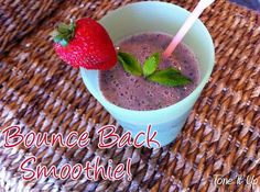 Bounce Back Smoothie with Perfect Fit Protein! ☀