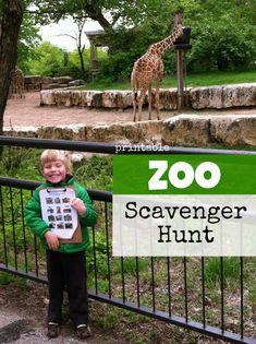 Printable Zoo Scavenger Hunt