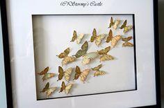 DIY map butterfly frame