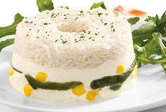Rosca de arroz blanco y rajas Philadelphia, un gran comienzo para la comida.
