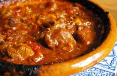 Arabic Food Recipes: Diced lamb tajine recipe