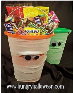 Idea: classroom door decor for  j's class halloween party...use for craft supplies?