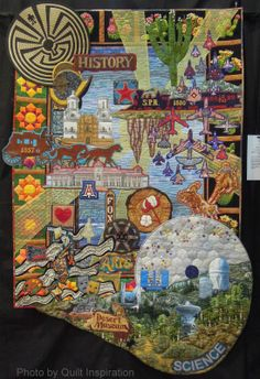 Quilt Inspiration: Highlights from the 2014 Tucson, Arizona Quilt Fiesta.  Tucson, Heart of Arizona by Karen G. Fisher