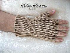 Fingerless Gloves Crochet Pattern by DebbiesDivinities on Etsy, $6.00