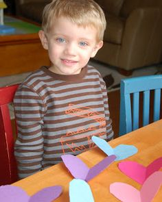Cutting Hearts: Montessori-inspired Tracing and Scissor Practice #valentines