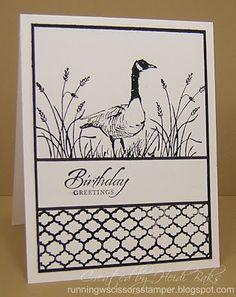 galleries, birthday card, stamp sets, masculin card, birthdays, masculine cards, stampin, ducks, runningwscissorsstamp wetland