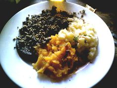 #Scotland : Not for the squeamish, Scotland's most infamous dish: Haggis. Most commonly made with sheep's 'pluck' (heart, liver, and lungs), minced with onion, oatmeal, suet, spices, and salt, mixed with stock, and traditionally boiled in the animal's stomach for approximately an hour.     Anyone ever brave enough to try it?