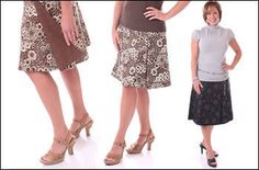 Womens Reversible Wrap Skirt