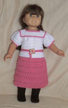 Midi+Skirt+Set++for+18+inch+dolls+206+by+WhatSheDid+on+Etsy,+$14.49 girl crochet, crochet outfit, crochet idea