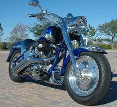 Harley FatM Boy Screamin Eagle Blue