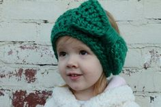 Check out this stunning crochet ear warmer!  I love the color!