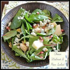 Cheese Walnut & Pear Salad