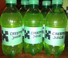 Minecraft party - Creeper Juice (Mountain Dew)