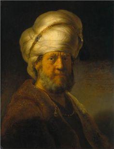 Portrait of a Man in Oriental Garment - Rembrandt