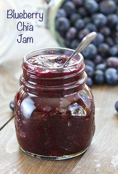 Blueberry Chia Jam... truly the best jam I've ever had, let alone made!!  #musthaverecipe