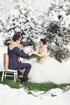 winter wonderland fairytale, photo by Sonya Khegay http://ruffledblog.com/romantic-moscow-wedding #winter #snow #wedding
