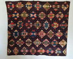 MID_1800_HAND_PIECED_APPLIQUED_QUILTED_CORN_&_BEANS_ANTIQUE_QUILT_ , eBay, mosaicdiamonds