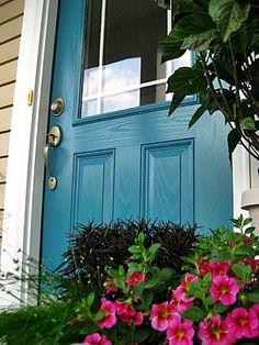 Benjamin Moore Calypso Blue - Front Door