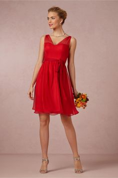 Red Bridesmaids Dresses. The Ainsley Dress in Hibiscus from BHLDN.