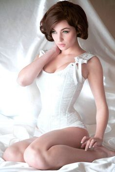 brunette white lingerie  from Kythoni's Women Are Beautiful and Lingerie: White boards p.1.5 m.9.4 #KyFun